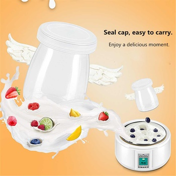 1.5L Yogurt Maker with 7 Glass Ferment Jars Automatic Yogurt Machine Household DIY Automatic Yogurt Tools Kitchen Appliance 220V 2
