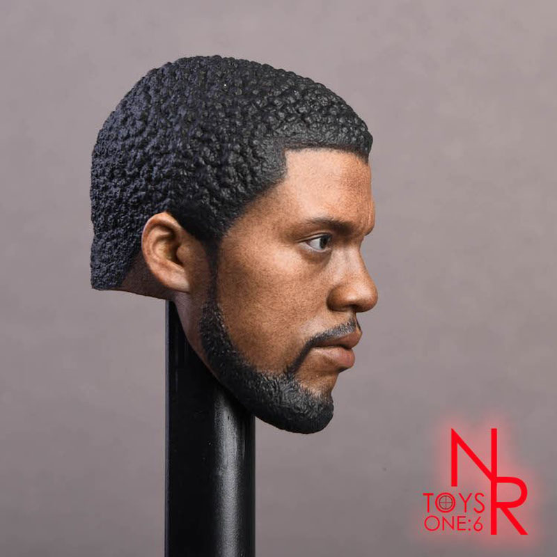 1/6 Scale Black Panther Chadwick Boseman Head Sculpt For 12'' Male Action Figure Toy