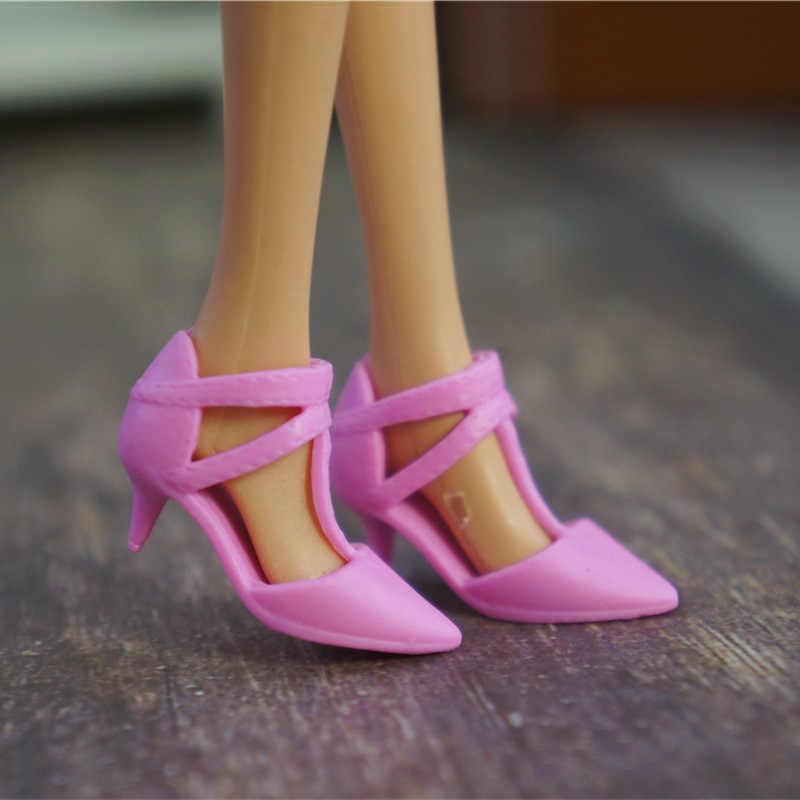 1 Ban Đầu Giày Cho Búp Bê Barbie Búp Bê BJD 1/6 Giày Sneaker Thời Trang Búp Bê Trang Thành Xăng Đan Fantezi Kawaii Phụ Kiện Hồng