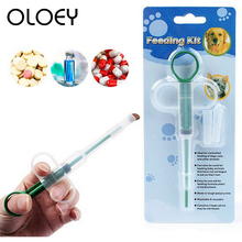 Reusable Small Hydroponics Plastic Nutrient Sterile Health Measuring Hand Push Syringe Tools for Pet Cat Feeder Drinker Product
