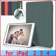 Capa para apple ipad 2 3 4, zaiwj capa de couro pu + estojo de tpu macio, proteção magnética para despertar, dormir inteligente, 2011 a 2012, lançamento