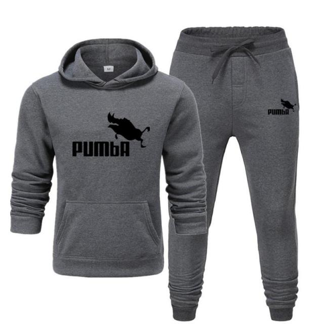 New Pumba Two Pieces Hoodie Batman Hooded Men Casual Cotton Fall / Winter Warm Sweatshirts Men's Casual Tracksuit Costume S-XXXL 1