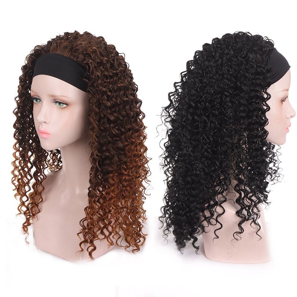 Houyan longo encaracolado cabelo africano bandana encaracolado