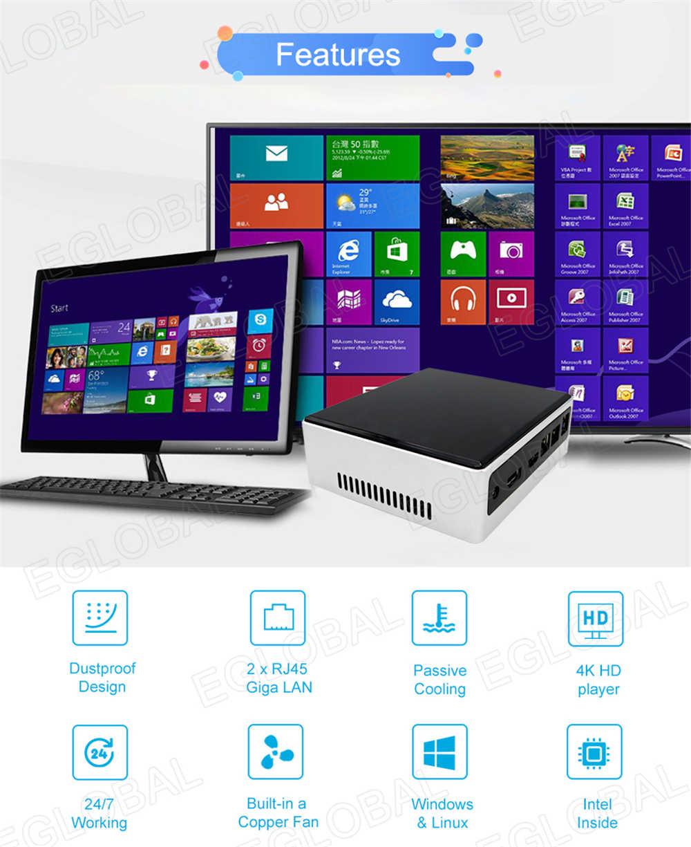8th Gen Mini PC Intel i7 8550U i5 8250U 4 Core 8 hilos 2 * DDR4 2 * Lans M.2 NVMe NUC computadora Win10 Pro Linux WiFi USB-C DP HDMI