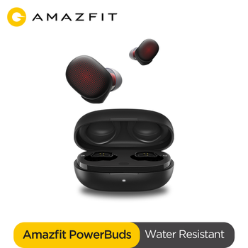 New Amazfit Powerbuds TWS Earphone Heart Rate Monitor IP55 Waterresistant Wireless Headphones Auto Pairing for Android phone