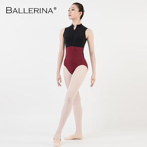Image 5 - ballet dance Practice black mesh leotard women gymnastics Turtleneck Sleeveless Leotard Ballerina 5681