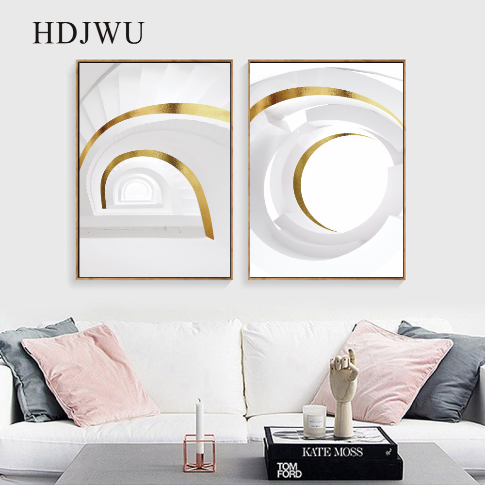 Modern Abstract Space Style Home Wall Canvas Painting Picture Art Printing Wall Poster Picture for Living Room DJ589 in Painting Calligraphy from Home Garden