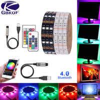 TV Hintergrundbeleuchtung RGB LED Streifen 5050 Wasserdichte 5V USB LED Band String Bias beleuchtung Für HDTV Bildschirm Desktop PC LCD Monitor Decor
