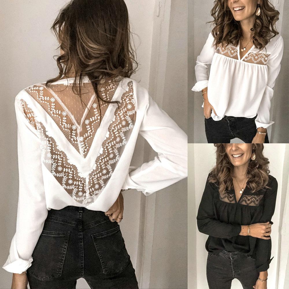 Women Long Sleeve Shirts Sexy Tops And Shirt Sexy Women Low Cut
