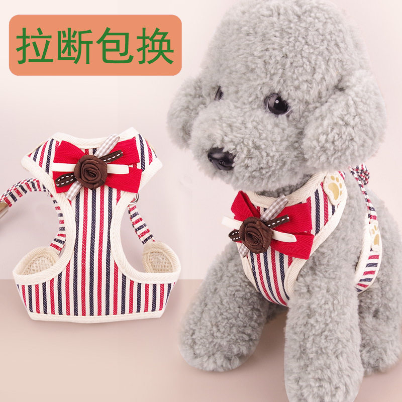 Suspender Strap Dog Vest Dog Rope Medium-sized Dog Chest Small Teddy Hand Holding Rope Pet Dog Unscalable Bichon Dog