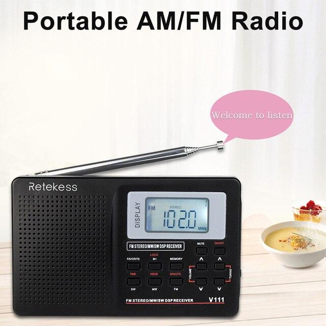 Полнодиапазонный радиоприемник RETEKESS V111