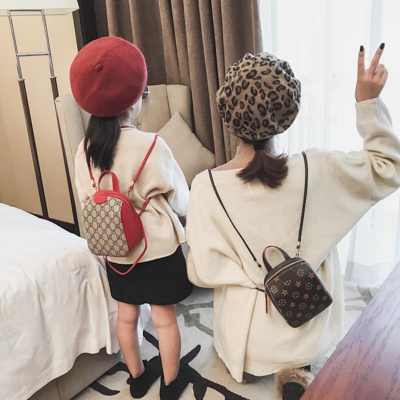 Buy Fashion Printing Children's Parent-child Models Three-use Single Shoulder Slung Shoulders Tide Bag Bag Female Small Backpack for only 18.72 USD