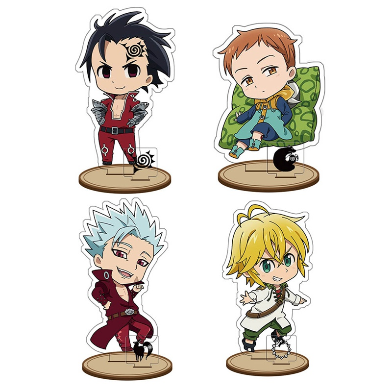 New High Quality Anime The Seven Deadly Sins Acrylic Stand Licensing Action Figure Stationery Gifts