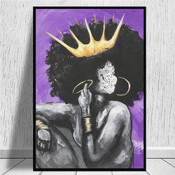 Naturalnie królowa fioletowy płótno wydruki plakat salon płótno ozdobne malarstwo ścienne artystyczny dom biuro Hotel apartament Deocor