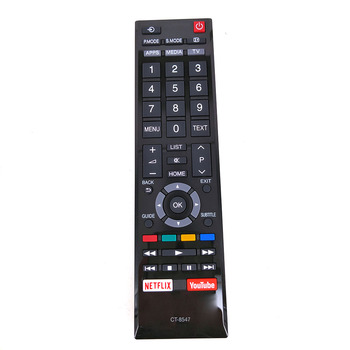 New Original CT-8547 For Toshiba LED TV Remote Control 49L5865 49L5865EV 49L5865EA 49L5865EE Fernbedienung new original ct 8536 for toshiba tv voice remote control