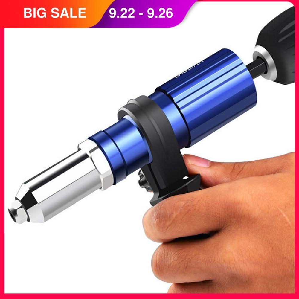 Pistolet à rivets électrique 2.4mm-4.8mm Rivet écrou pistolet perceuse adaptateur sans fil outil de rivetage insérer écrou tirer rivet outil