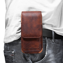 Universal Mobile Phone Waist Bag for Wiko Power U10/Power U20 Leather Belt Clip Phone Case for Wiko Sunny5 Lite / Y62