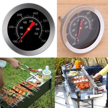 Outdoor Kitchen Stainless steel BBQ Thermometer Grill Meat Thermometer Dial Temperature Kitchen Tools Outdoor Barbecue Accessor