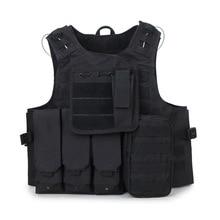 Amphibious tactical vest CS field camouflage vest self-defense vest outdoor combat vest equipment multi pocket tactical vest black male vest outdoor male cs field equipment breathable mesh