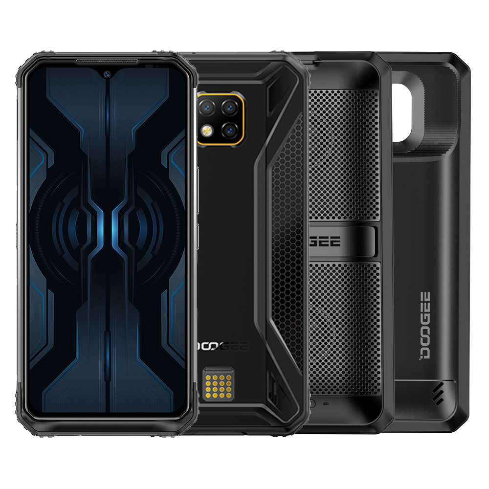 DOOGEE S95 Pro IP68 Helio P90 Octa Core 8GB 128GB 48MP Cam Android 9.0 Modular Rugged Mobile Phone 6.3inch FHD Display 5150mAh