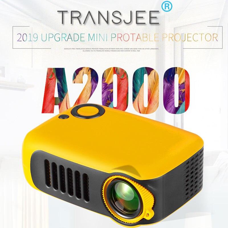 A2000 projecteur LED Mini Portable Proyector 800 lumen prend en charge 1080P LCD Mini Projetor 50,000 heures lampe vie Home cinéma vidéo