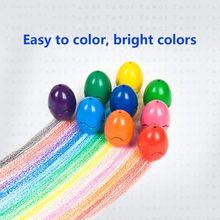 Kredki dla małych dzieci palmowe kredki dla dzieci 9 kolorów kredki nietoksyczny kredki do malowania jajka zmywalne kije wieżowych zabawek f tanie tanio OOTDTY CN (pochodzenie) 9 colors 9 colors Box Zestaw