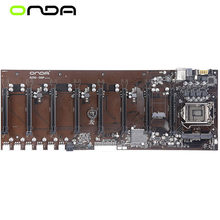 Nwe 8gpu 8pcie 8 vídeo pci-e x16 btc pro para onda B250-BTC d8p 8gpu placa-mãe intel b250btc soquete lga 1151 ddr3