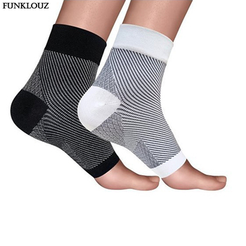 1 Pair Compression Ankle Protector Anti Fatigue Compression Foot Sleeve Support Brace Sock Drop Shipping 1 pair compression ankle protectors anti sprain basketball football ankle brace supports straps bandage wrap heel protector