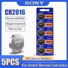 5 шт./лот Sony CR2016 CR 2016 DL2016 LM2016 BR2016 ECR2016 3V литиевая батарея для часов калькулятор пульт дистанционного управления