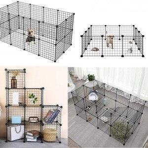 Быстрая доставка маленькая бутылочка Pet кролик клетка собаки многоугольный игровой бассейн забор для животных Собака Щенок свинок кролико...