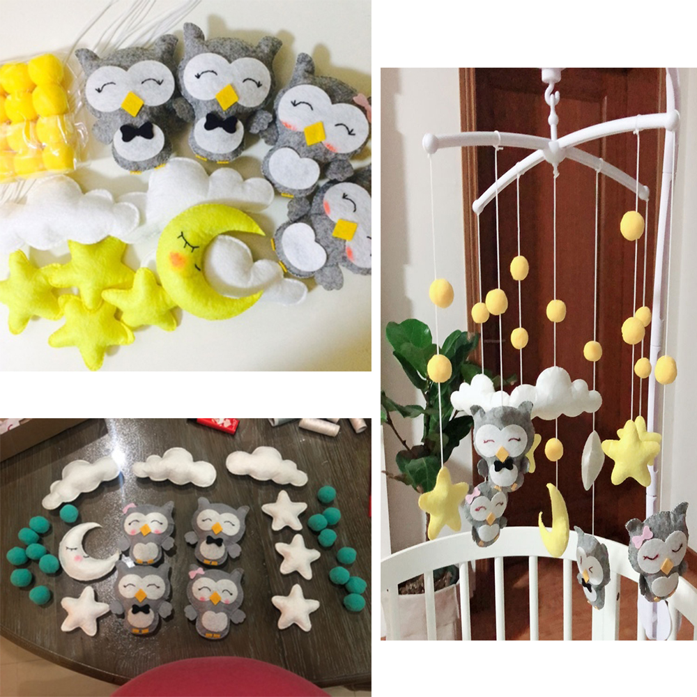 Baby Toys 0-12 Months Rattles Set Pregnant Mom Handmade Mobile For Crib DIY Bed Bell Materials Package Toy Newborn Toys For Baby