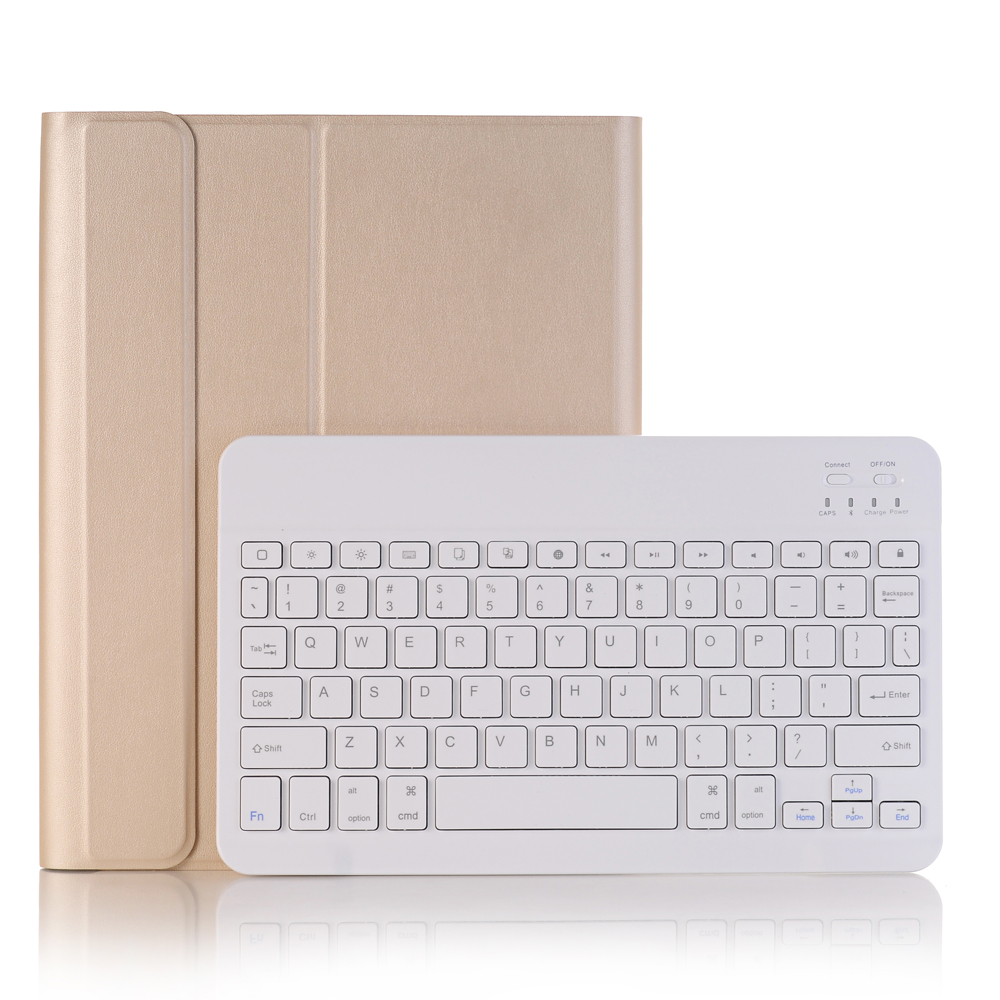 Gold with White Yellow For iPad 10 2 2019 2020 Keyboard Case with Pencil Holder for Apple iPad 7th 8th