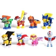 8pcs/Set Paw Patrol Toys Set Air rescue Toy Dog cloak patrol dog Action Figures Anime Model for Children Birthday Gift