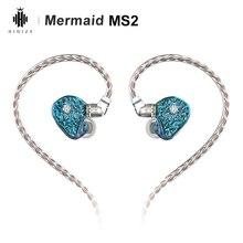 Hidizs حورية البحر MS2 3.5 مللي متر 2Pin 0.78 مللي متر انفصال كابل HiFi سماعة أذن داخلية سماعة 1DD + 1BA الهجين السائقين MonitorIEM سماعات الأذن