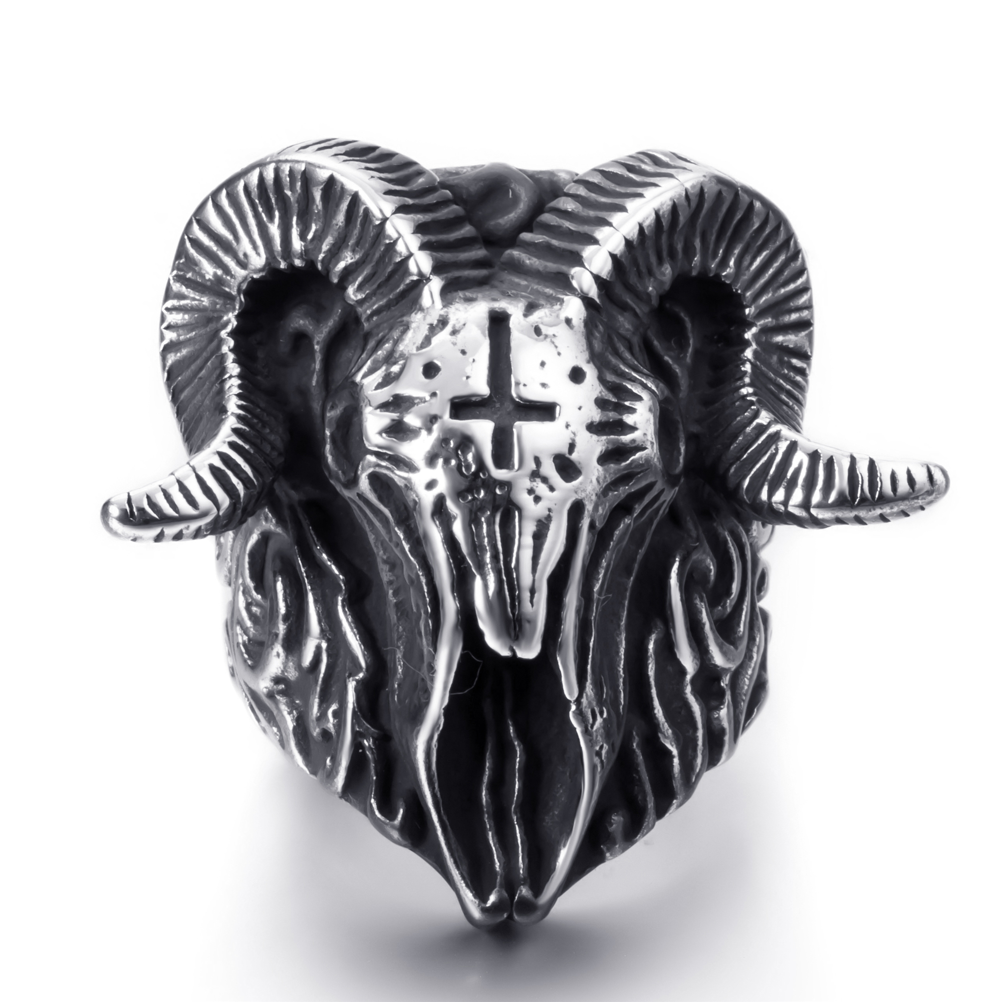 Altar 3.0 Ring In Sterling Silver Brutalist Modern Cyberpunk steampunk Primitive Oxidized Dark Fashion Signet Hand Carved Talisman Warrior