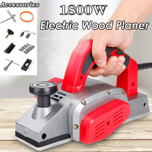 1200W/1600W Powerful Electric Planer Handheld Copper Wire Wood Planer Carpenter Woodworking DIY Power Tool with 10 Accessories