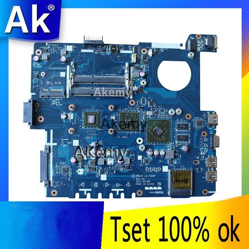 AK X53B Laptop motherboard para ASUS X53B K53B X53BY X53BR K53BR K53BE Teste mainboard original PBL60 LA-7322P REV: 1A
