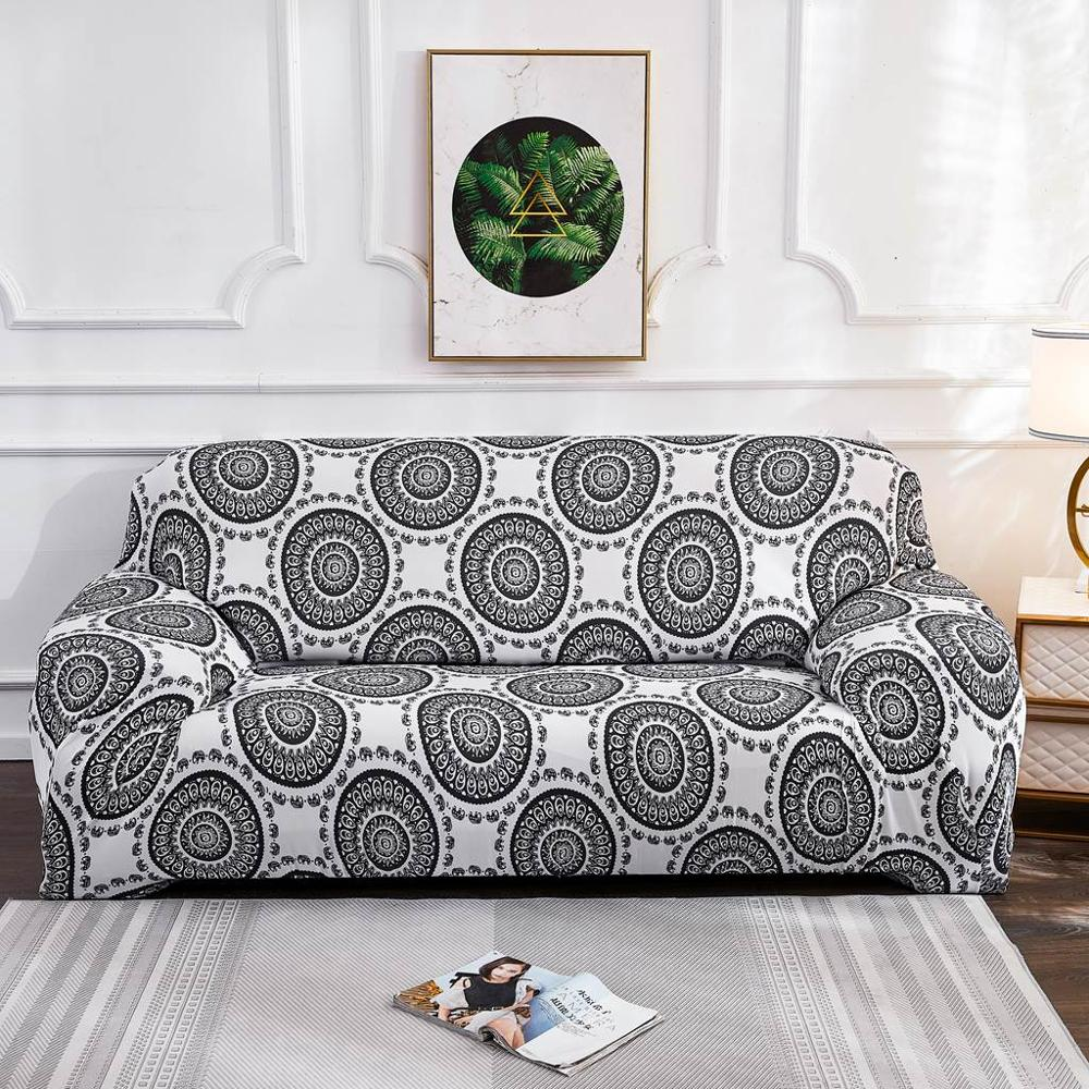 Geometric Colorful Printing Sofa Cover Elastic Slipcovers Anti-dirty Couch Cover Sofa Funiture Cover Towel All Wrap