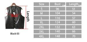 Image 5 - Chaqueta de cuero, gran oferta, chaleco para hombre, sin mangas, Punk, de bolsillo, holgado, marca negra, chaleco para motocicleta, abrigos, ropa de calle para hombre de PU