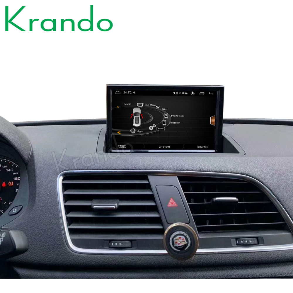 Krando Android 9.0 8'' IPS 4+64G Car Radio Audio Stereo Navigation GPS for Audi Q3 2011-2017 Multimedia Player WiFi Flip Screen