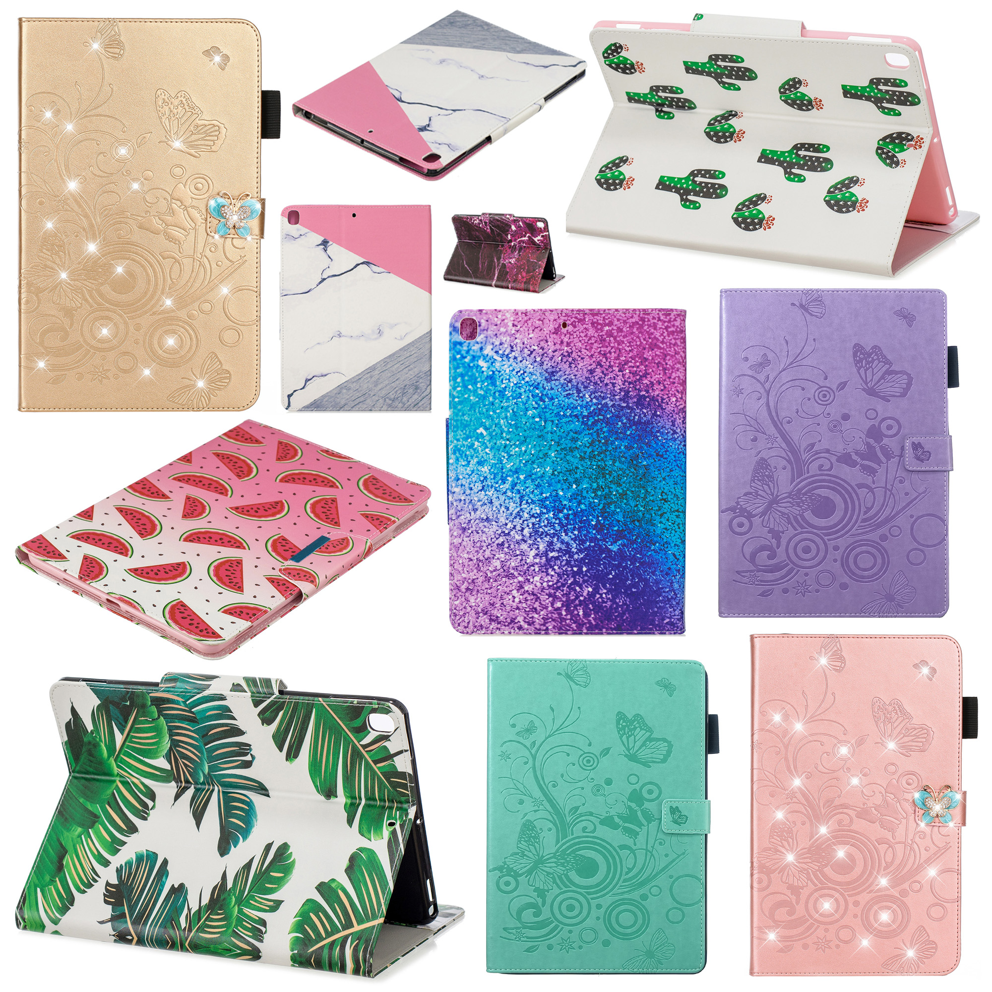 Stand Flip PU Leather Capa Case For iPad 10 2 Case 2019 A2200 A2198 A2197 A2232