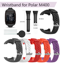 Wristband for Polar M400 Silicone Replacement Strap for Polar M430 GPS Running Smart Watch Sport Watchband Wrist Strap Bracelet polar m400 hr black