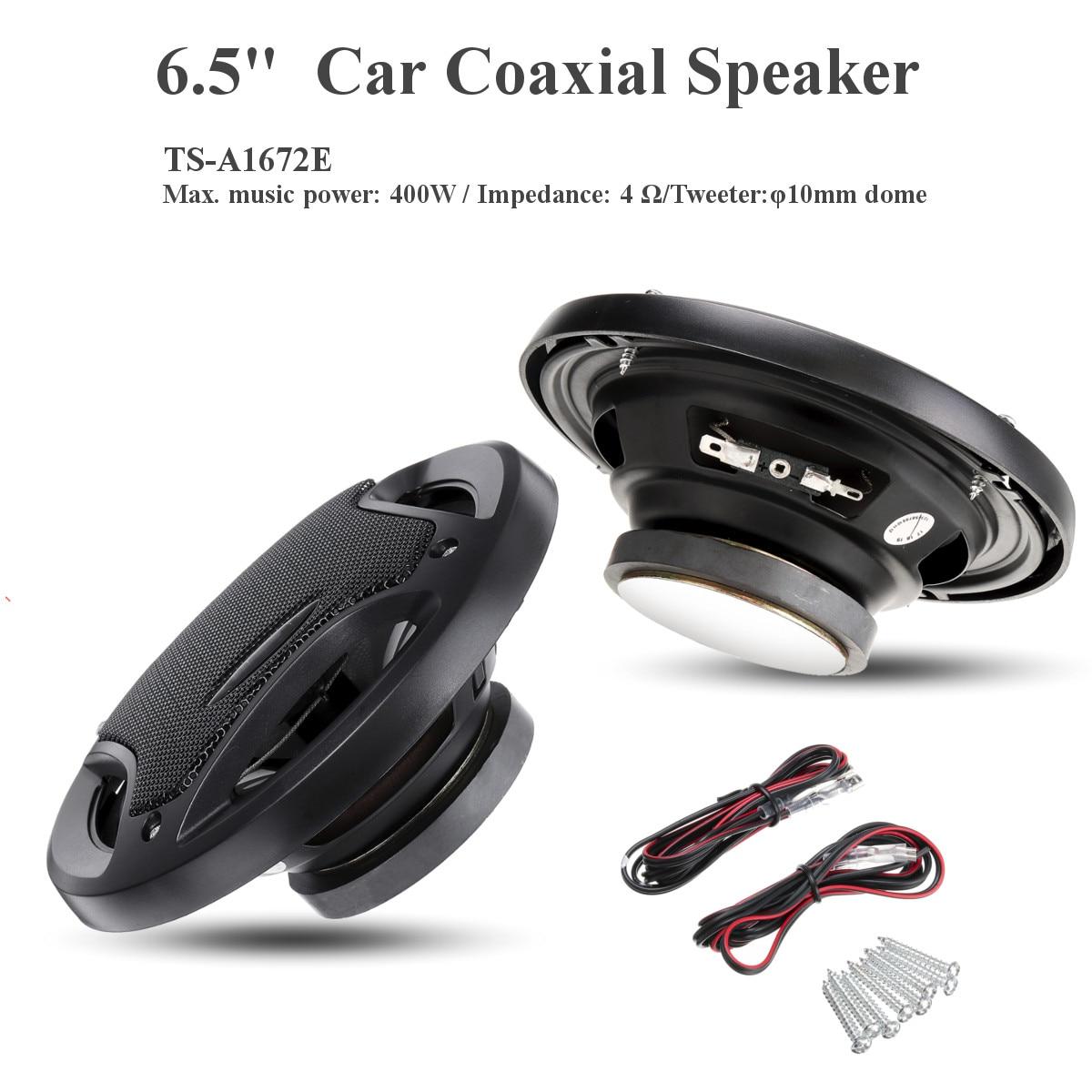 2 uds 6,5 pulgadas 400W altavoz Coaxial para coche Puerta de vehículo Audio de coche música estéreo Hifi altavoces para sistema de Audio para coche