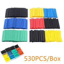 530pcs/box Heat Shrink Tube Kit Shrinking Assorted Polyolefin Insulation Sleeving Heat Shrink Tubing Wire Cable 8 Sizes 2:1 s(China)