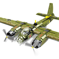 559pcs war military series German bomber compatible legoedlies particle assemble educational toy gift for children