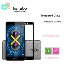 Kairubo Screen protector 2.5d for HUAWEI Honor 6X touch glass Phone Screen Protective Film HPRO Premium Honor 6X Tempered Glass цена