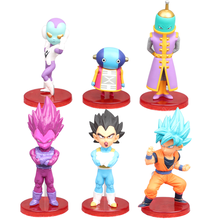 New Action Figure Dragon Ball Super Saiyan Q Ver. Combat Son Goku Vegeta Zen'ō PVC Anime Figure Collectible Model Toy Gift 7cm super sonico racing girl ver sexy anime figure maxfactory mf pvc action figure collectible model toys super orbital girls band