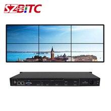 SZBITC Video Wand Controller 2x3 HD Splitter 1 in 6 heraus Video 180 Rotation RS232 mit Fernbedienung für 6 TVs Spleißen