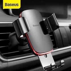 BASEUS Air Outlet Dudukan Telepon Di Mobil Auto-Lock Gravitasi Dudukan Mobil Universal Ponsel Holder Stand Mount untuk iPhone 11 Pro X XS 7