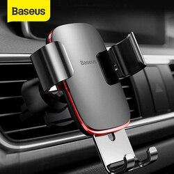 Baseus de salida de aire sostenedor del teléfono del coche Auto-cerrada la gravedad soporte de coche soporte de teléfono Universal soporte de montaje para iPhone 11 Pro X Xs X 7